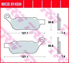 Bremsbelag MCB814SH