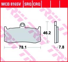 Bremsbelag MCB816SV