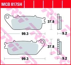 Bremsbelag MCB817SH