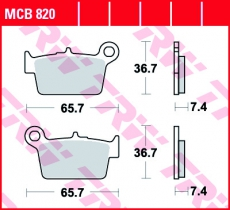 Bremsbelag MCB820