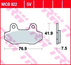 Bremsbelag MCB822