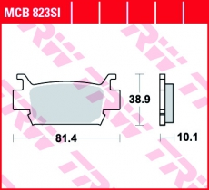 Bremsbelag MCB823SI