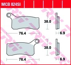 Bremsbelag MCB824SI