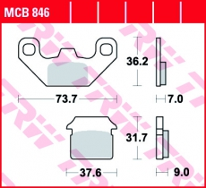 Bremsbelag MCB846