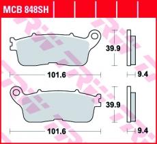 Bremsbelag MCB848SH