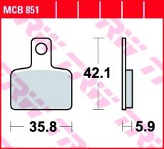 Bremsbelag MCB851