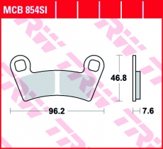Bremsbelag MCB854SI