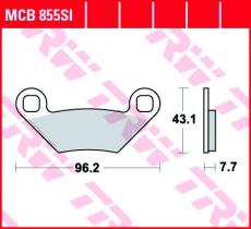 Bremsbelag MCB855SI
