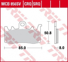 Bremsbelag MCB856CRQ