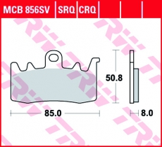 Bremsbelag MCB856SV