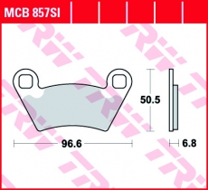 Bremsbelag MCB857SI