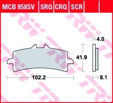 Bremsbelag MCB858SV