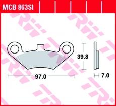 Bremsbelag MCB863SI