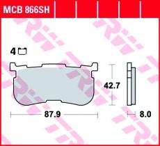 Bremsbelag MCB866SH