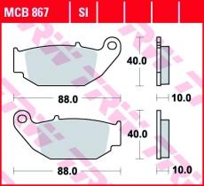 Bremsbelag MCB867