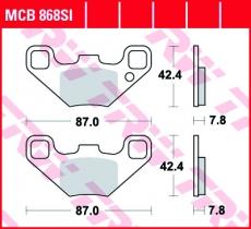 Bremsbelag MCB868SI