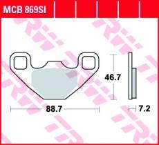 Bremsbelag MCB869SI
