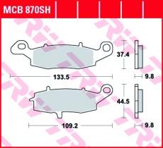 Bremsbelag MCB870SH