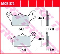 Bremsbelag MCB872