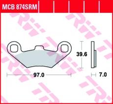 Bremsbelag MCB874SRM