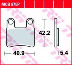 Bremsbelag MCB875P