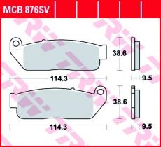 Bremsbelag MCB876SV