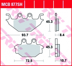 Bremsbelag MCB877SH