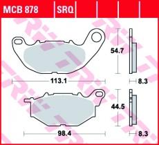 Bremsbelag MCB878