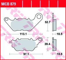 Bremsbelag MCB879