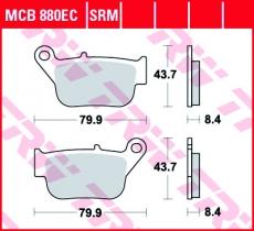 Bremsbelag MCB880EC