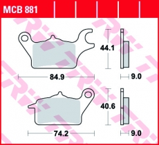 Bremsbelag MCB881