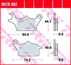 Bremsbelag MCB882
