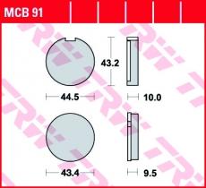 Bremsbelag MCB91