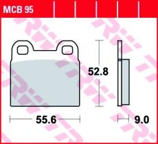 Bremsbelag MCB95
