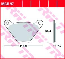 Bremsbelag MCB97