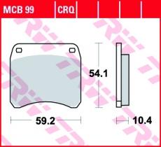 Bremsbelag MCB99