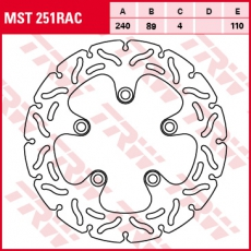 Bremsscheibe MST251RAC