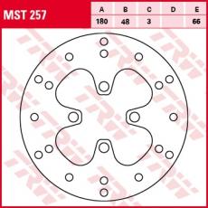 Bremsscheibe MST257