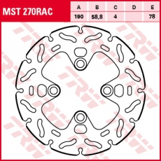 Bremsscheibe MST270RAC