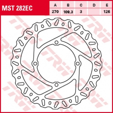 Bremsscheibe MST282EC