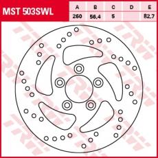 Bremsscheibe MST503SWL