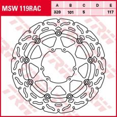 Bremsscheibe MSW119RAC