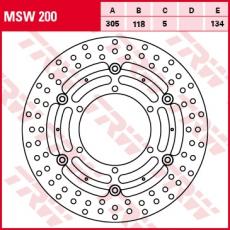 Bremsscheibe MSW200