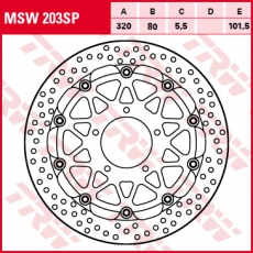 Bremsscheibe MSW203SP
