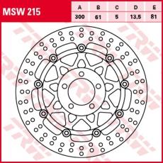 Bremsscheibe MSW215