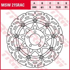 Bremsscheibe MSW215RAC