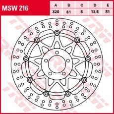 Bremsscheibe MSW216