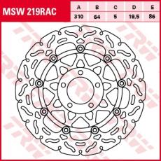 Bremsscheibe MSW219RAC