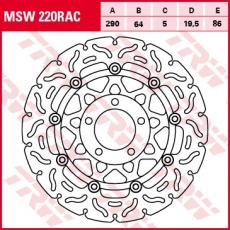 Bremsscheibe MSW220RAC