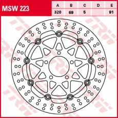 Bremsscheibe MSW223